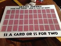 Find the Joker stag and drag game, guest write their names on the card that they want and whoever finds the joker once all the cards are taken wins a prize! Buck And Doe Games, Stag Games, Fundraising Games, Fundraiser Raffle Ideas, Fundraiser Baskets, Las Vegas, Raffle Baskets, Gift Baskets, Party