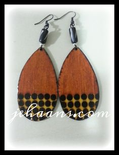 Honey and Mustard spotted Tribe Earrings by JEHAANS on Etsy, $25.00