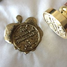 """Wax Seal Stamp """"Not All Those Who Wander are Lost"""""""