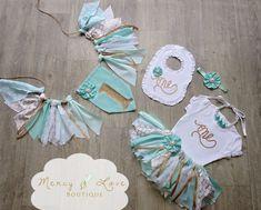 The Tiffany Fabric Tutu Birthday Tutu by MercyAndLoveBoutique