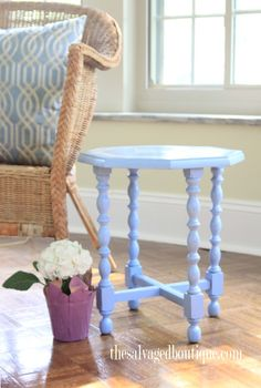 A Beginner's Stencil Project { Love Letter Accent Table } - The Salvaged Boutique