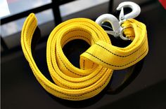 Emergency 5 Tons Heavy Duty Doubled Thick 4 meter Tow Strap Size: 4.1cm wide Weight: 650G 4 meter long dual layer nylon strap with enhanced hooks Heavy duty tow strap with 5 ton capacity Easy to install and carry Ideal for towing car, cart, boat, and similar applications