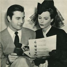 Hedy Lamarr and George Montgomery were briefly engaged in 1942.