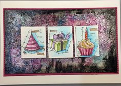 Mixed media card with Tim Holtz  blueprint minis by kidmandesign
