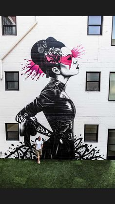 #Goth geisha girl street art Los Angeles