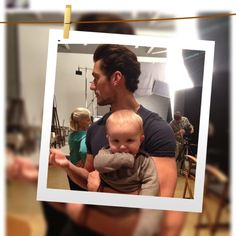 Geez, we thought him w/the puppy was ovary exploding? Gandy+Baby is causing a work-stoppage here...❤