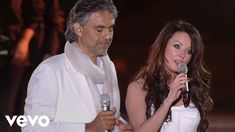 """Andrea Bocelli and Sarah Brightman, star of Phantom of the Opera, join together for a duet of the hit song Time To Say Goodbye"""" Sarah Brightman, Hit Songs, Music Songs, My Music, Miss U Song, Say Goodbye Lyrics, Missing You Songs, El Divo, Youtube Time"""