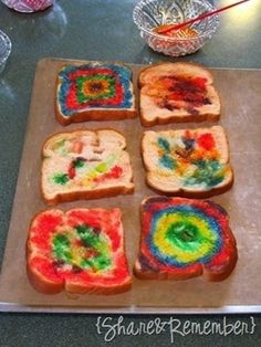 Bread paint | 27 Creative And Inexpensive Ways To Keep Kids Busy This Summer