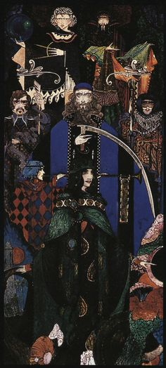 Harry Clarke - 1914, Hibernia, calendar design for an insurance company