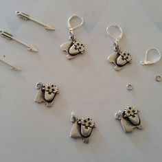 Lovely sheepish stitchmarkers, set of 5 ready to ship to you!