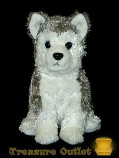 Ty Beanie Babies 2.0 Stuffed Plush Test Market Version Sledder Husky Dog Rare