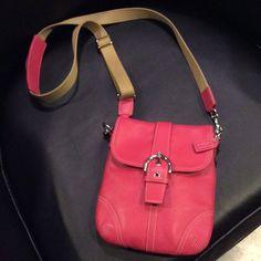 Coach purse Coach pink leather cross body purse Coach Bags