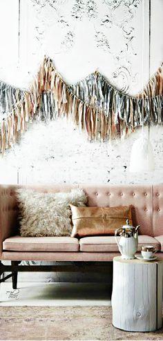 chic living room. pastel decor