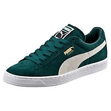 Roma Suede, Sneakers Basses Mixte Adulte, Noir Black White Team Gold-Amazon Green, 36 EUPuma