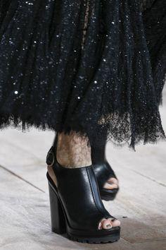 Eye for Detail - Micheal Kors glitters & sandals - monstylepin #fashion #fashiondetail #fashionweek #catwalk #sandals #glitter #skirt #michealkors