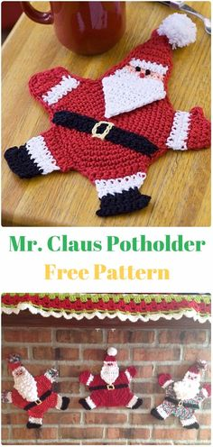 Crochet Mr. Claus Potholder Free Pattern- Crochet Santa Clause Free Patterns