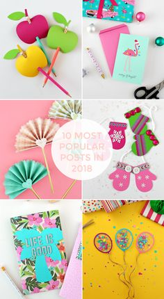 BLOG: 10 MOST POPULAR POSTS FROM 2018 Popular Art, Most Popular, 3d Paper, Paper Crafts, Garden Projects, Craft Projects, Gift Tags, Life Is Good, My Favorite Things