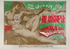 Big Brother and the Holding Company Poster - Rock posters, concert posters, and vintage posters from the Fillmore, Fillmore East, Winterland, Grande Ballroom, Armadillo World Headquarters, The Ark, The Bank, Kaleidoscope Club, Shrine Auditorium and Avalon Ballroom.