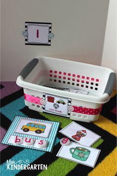 Organizing Math and Literacy Stations  (Miss Kindergarten Blog)
