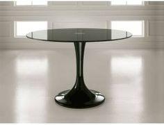 Town tavolo in vetro ovale Tulip - Tavolo fisso ovale con basamento ...