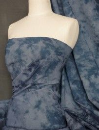 Blue tie dye stretch denim light to mid weight fabric Q962 BL. For a Coco dress?