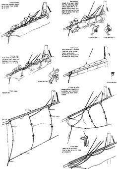 Sail handling Model Sailing Ships, Model Ships, Model Ship Building, Boat Building, Ship Drawing, Wooden Ship, Boat Stuff, Boat Plans, Wooden Boats