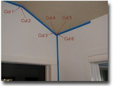 How to install crown molding on slope of vaulted ceiling.  Need to do this in our master.