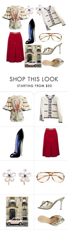"""Through the fashion, through the years, through the femme fatale"" by elyssa-stop-that-now ❤ liked on Polyvore featuring Chloé, Chanel, Carolina Herrera, CÉLINE, Tiffany & Co., Victoria Beckham, Charlotte Olympia, internationalwomensday, pressforprogress and FemaleDesigners"