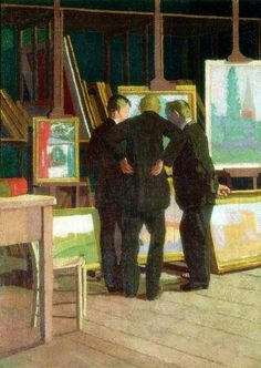 Walter Richard Sickert's studio (also known as Fitzroy Street) Malcolm Drummond (English, Oil on canvas. Laing Art Gallery, Newcastle-upon-Tyne. In 1910 Drummond exhibited. Art Nouveau, Walter Sickert, English Artists, Art Uk, Sculpture, Your Paintings, Art Studios, Artist At Work, Les Oeuvres