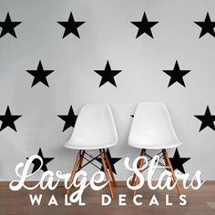 Large Stars Wall Decal Pack, Vinyl Wall Sticker Decal Art Pattern WAL-2168 by DecalLab on Etsy https://www.etsy.com/listing/229234142/large-stars-wall-decal-pack-vinyl-wall