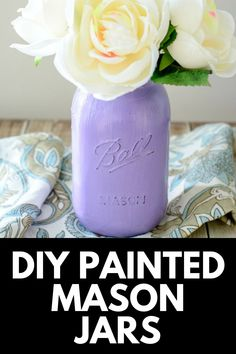 Spring is right around the corner, and what better way to brighten up your decor than with these rustic and pastel DIY Painted Mason Jars? Get the full tutorial at MomDot.com!