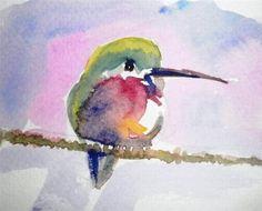 """humming bird"" - Original Fine Art for Sale - © Siby Chacko"