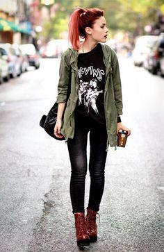 Looks com camisetas de banda | Fashion by a little fish https://fashionbyalittlefish.wordpress.com/2015/01/30/looks-com-camisetas-de-banda/