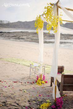 altar beach wedding nosara costa rica