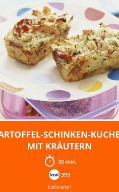 Kartoffel-Schinken-Kuchen mit Kräutern - smarter - Kalorien: 393 Kcal - Zeit: 30 Min.   eatsmarter.de