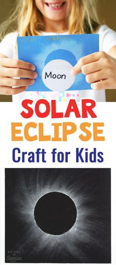 This solar eclipse craft for kids is simple and fun. Add this to your solar eclipse activity list! Fun for a solar eclipse party too --