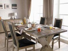 Esstische Im Landhausstil Mit Stühlen Fürs Esszimmer   Rustikale Esstische  Hell Holz Massiv Abendessen Leder Polsterung