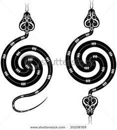Tattoo Snake Design t Tattoo Snake, Inca Tattoo, Reptiles, Diy Tattoo, Kundalini Tattoo, Snake Art, Bild Tattoos, Snake Design, Snakes