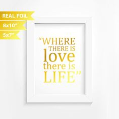 Gold Quote Motivational Real Foil Print Motivational Quote Inspirational Decor .