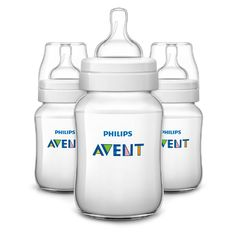 Feeding Ab 0 Monate 125 Ml. Pacifiers & Soothers Set 3 Babyflasche Philips Avent Classic
