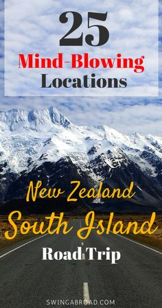 25 Awe-Inspiring Locations in South Island for perfect road trip. Read to be impressed by the beauty of New Zealand! zealand honeymoon 25 New Zealand South Island Attractions - Believe Your Eyes Brisbane, Melbourne, Sydney, New Zealand Itinerary, New Zealand Travel Guide, Road Trip New Zealand, Travel Advice, Travel Guides, Travel Tips