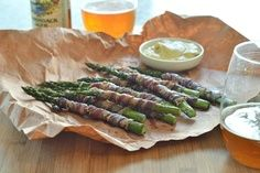 Lamb Bacon Wrapped Asparagus - Yes it is kosher!!