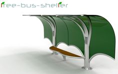 When you need a protection from the sun or rain, it's natural to seek shelter under a tree. For this reason an industrial designer was inspired to design this bus shelter.