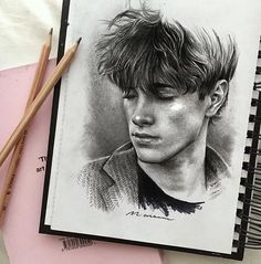 image discovered by n a s r a. Discover (and save!) your own images and videos on We Heart It Realistic Face Drawing, Guy Drawing, Drawing People, Space Drawings, Art Drawings Sketches, Pencil Portrait, Portrait Art, Drapery Drawing, Abstract Pencil Drawings