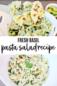 fresh basil pasta salad recipe Winter Salad Recipes, Chopped Salad Recipes, Lettuce Wrap Recipes, Salad Dressing Recipes, Easy Salads, Healthy Salad Recipes, Summer Salads, Side Dishes Easy, Side Dish Recipes