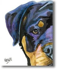 I love this painting, really captures this breed well. You can find this and many other Rottweiler paintings at http://www.rottweiler-gifts.com for $24.50.   P.S. This Pinterest board is curated by www.packdog.co, coming this holiday season 2012. If you have a dog you're going to love it.