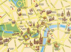 Tourist Attraction Map Of London.132 Best Tourist Map Images Graphics Map Design Page Layout