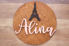 Decorate your nursery with this stylish, modern wooden name sign! Everything is hand crafted with a whole lot of love!  Each piece will be cut, sanded, painted and stained by hand. The stain may vary due to the grains and knots from the wood. That is what makes your sign so unique! Personalized Wooden Signs, Wooden Name Signs, Wooden Names, Wood Signs, Nursery Signs, Wood Letters, Handmade Wooden, Tower, Make It Yourself
