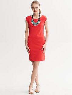 Cap sleeve ponte dress - I live in Banana Republic ponte dresses. And I want more.