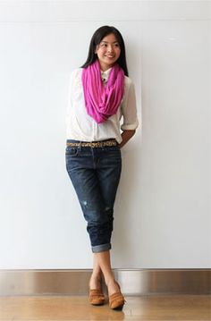 Super cute. Love the calm colors of the outfit. From Gap, Japanese Colection.